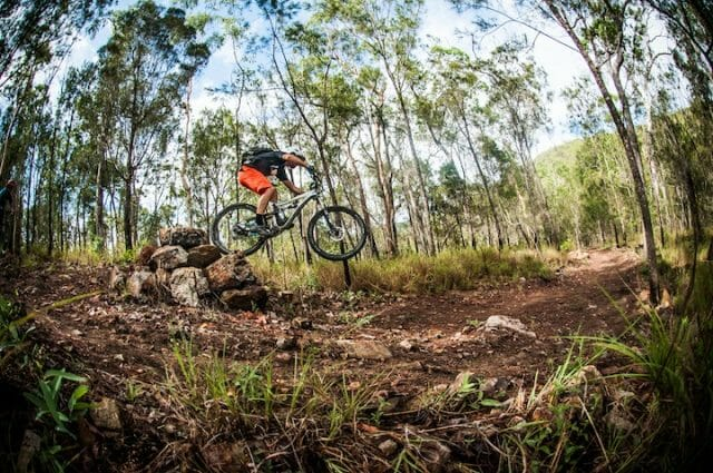 Dropping in off a sneaky inside line on Ridgey Didge.