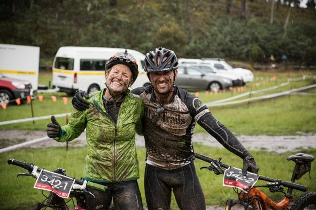 The trails held up really well in the mud…and were great fun to ride.