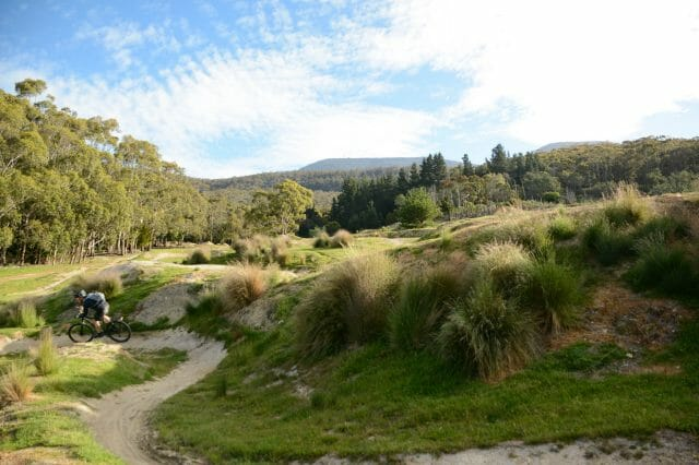 Glenorchy Mountain Bike park. Practice your skills, extend the ride, or call for a lift back up the hill.