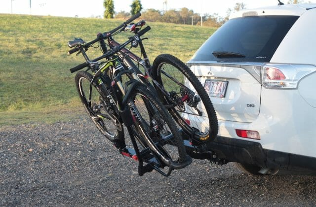 The whole rack tilts down to allow you access to the boot.