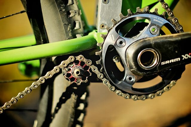 Single ring drivetrains, like SRAM's XX1 allow for this suspension system to be used on more bikes than just downhillers.