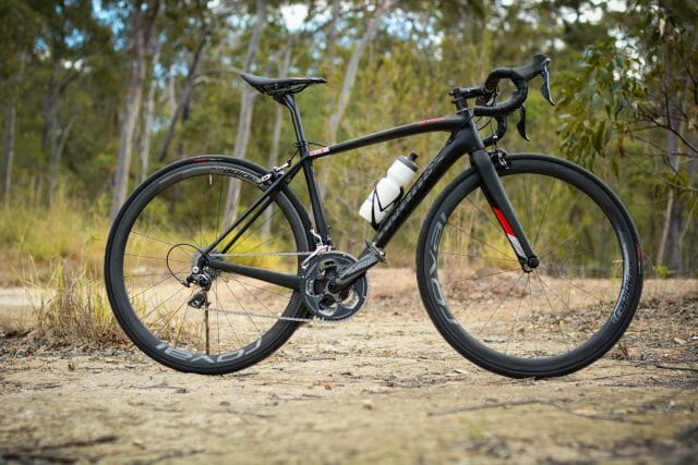 Did we just slip a picture of a road bike in this article? The $8,999 S-Works Amira to roadies is what the Fate is to mountain bikers. Once again, we were very impressed with the out of the box fit.