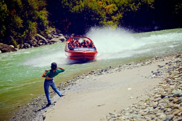 No trip to Queenstown would be complete without flashing (and riding) the Shotover Jet maniac canyon boats.