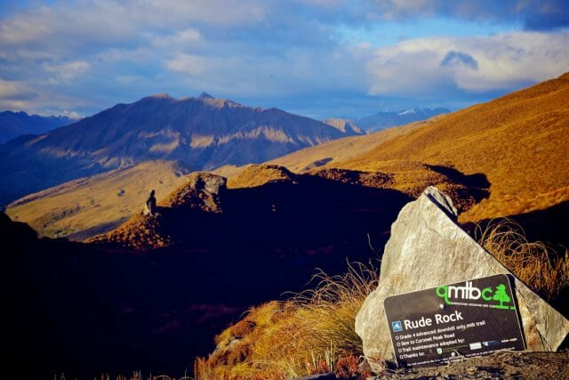 Rude Rock is one of many killer shuttle-able trails that run from Coronet Peak, about 20-mins outside of Queenstown.