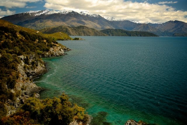 The Millennium Track is a 30km out-and-back along the shores of Lake Wanaka, with views like this the entire time.