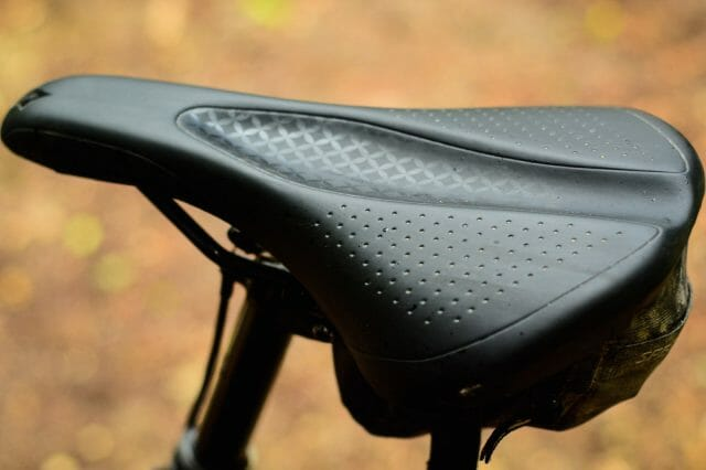 The new Myth saddle reduces soft tissue pressure by placing this critical depression further forward.
