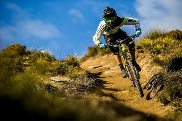 Martin Maes takes on the famous trails of Coronet Peaks.