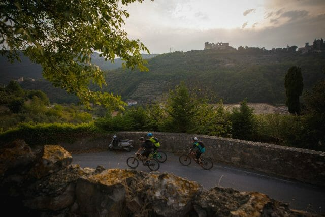 Riding back into town after a mammoth day. Just a cheeky castle in the background.
