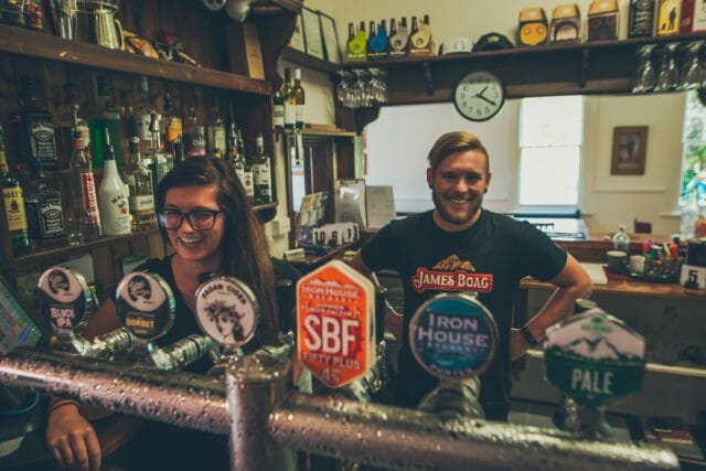 Friendly legends Sam and Siofra the new-ish managers at Weldborough Hotel are there for the thirst quenching good times.
