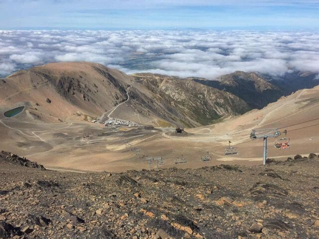 Above the clouds at Mt Hutt.