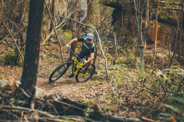 The aggressive tyres and quick handling geometry combine to give the Sight excellent singletrack manners.