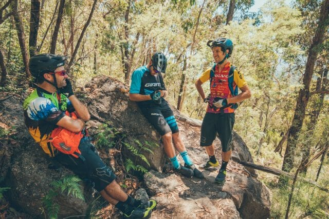 Mt Beauty is one of Australia's original mountain bike towns, the trails have been here since the 1980s... which is why team Flow donned some genuinely vintage mountain bike jerseys for the occasion.