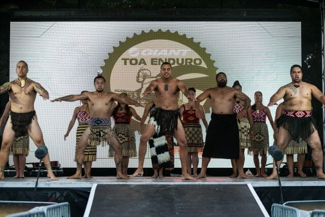Competitors and spectators received a traditional Maori welcoming ceremony.
