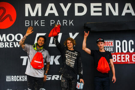 maydena ews enduro racing podium