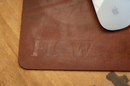 lucky straps leather mouse pad