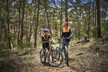 stopped for a breather on Creswick's new mtb trails