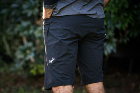 Rapha Trail Shorts from the back