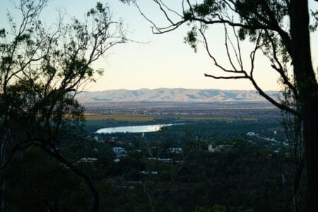 A nice view of Rockhampton from the trails