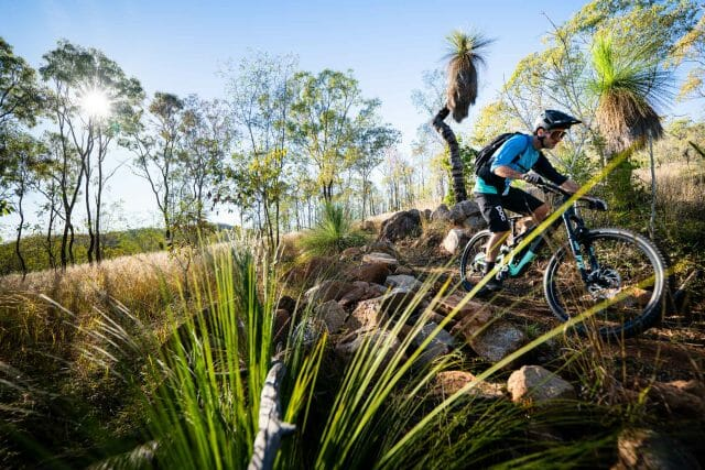 Mount Morgan's mountain bike trail network offers a variety of options for all skill levels